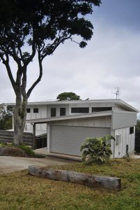 View of fibre-cement clad house from the street