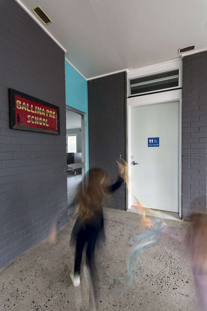 Exterior view of preschool disabled toilet