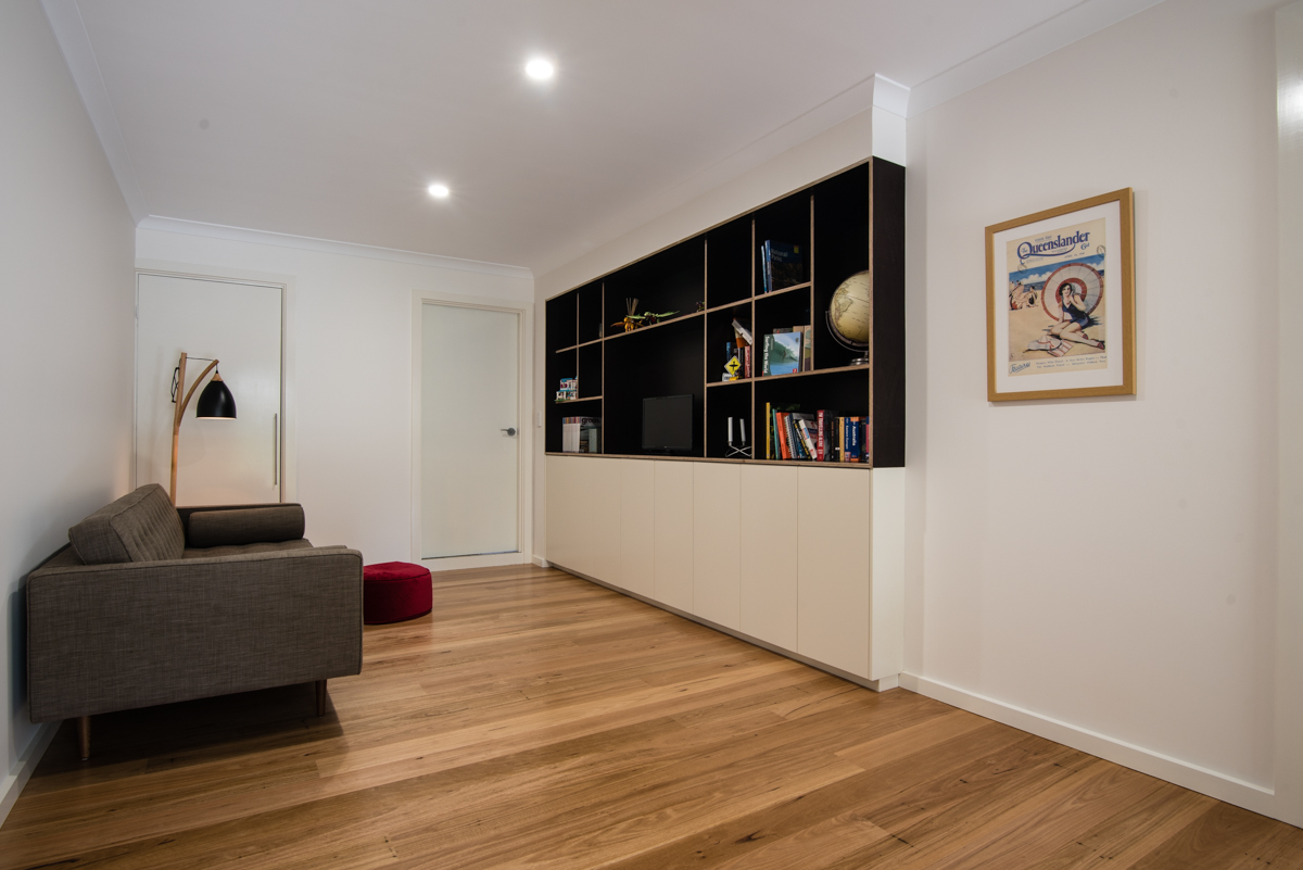 lounge room with timber floor