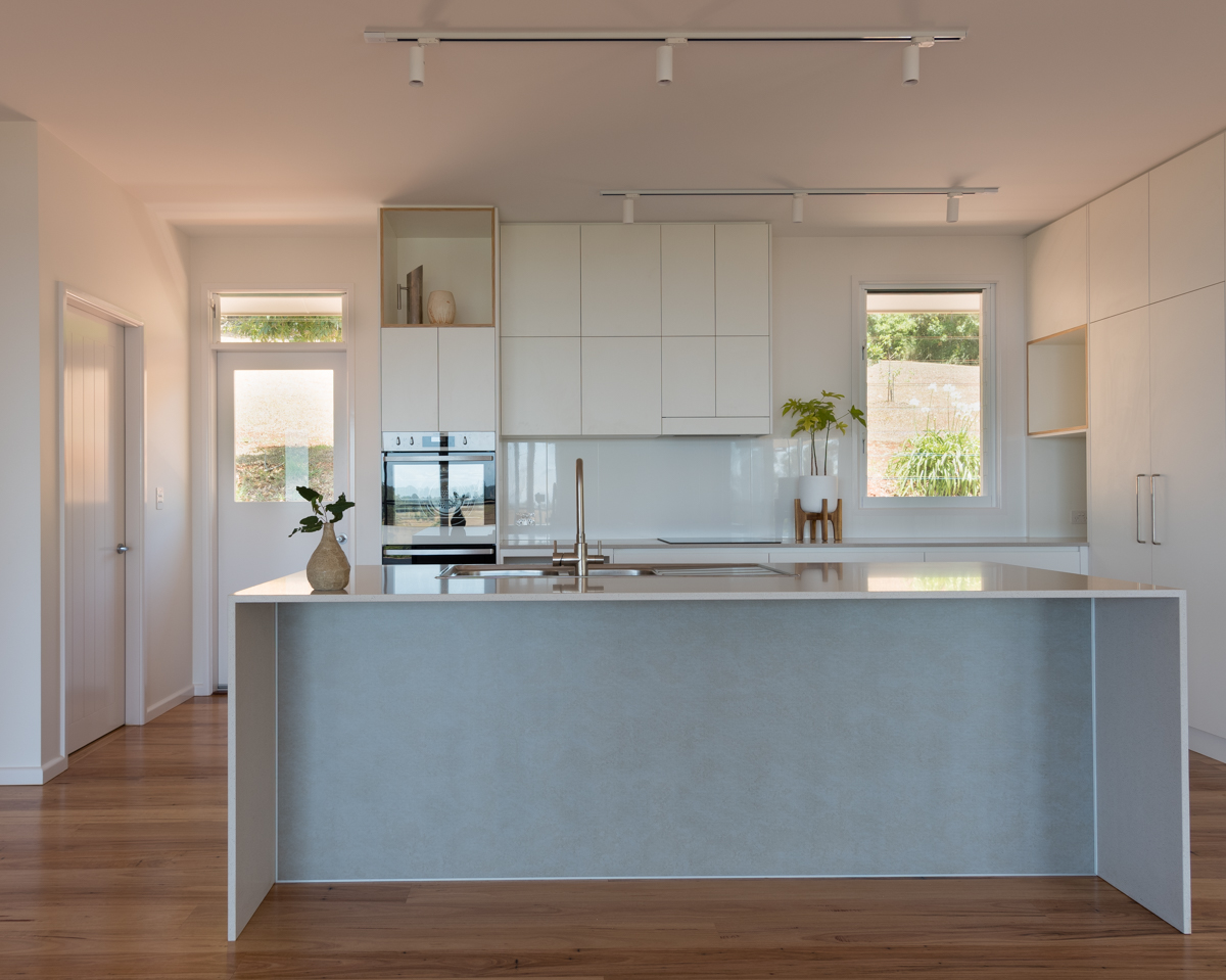 kitchen, white and fibre-cement
